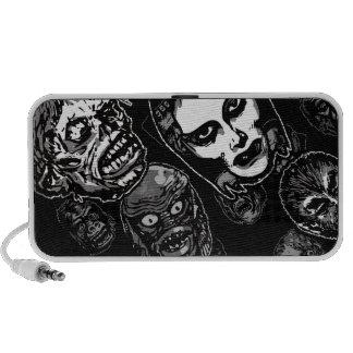Horror Movie Monster Masks (b&w) Notebook Speakers