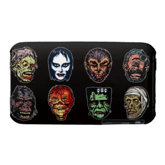 Horror Movie Monster Masks (color) iPhone 3 Covers