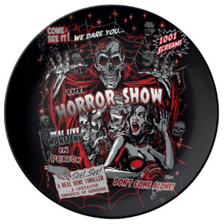 Horror movie Monsters spook show Plate