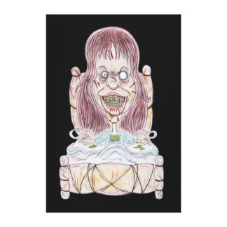 Horror Movie Possessed Caricature Drawing Canvas