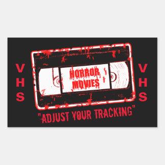 Horror Movies -Adjust Your Tracking Rectangular Sticker