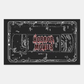 Horror Movies -Black Rectangular Sticker