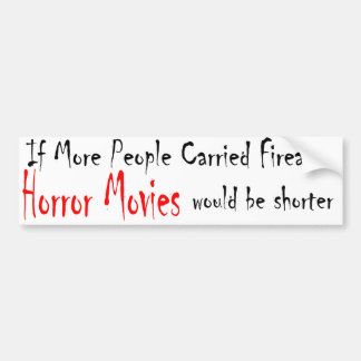 horror movies bumper sticker