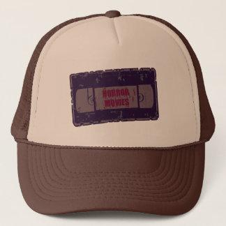 Horror Movies -Video Cassette Purple Trucker Hat