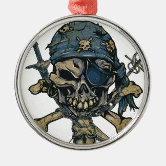 Horror Pirate Skull Christmas Ornament