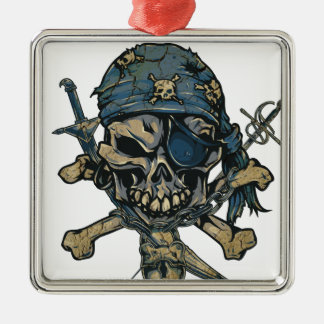 Horror Pirate Skull Christmas Ornament