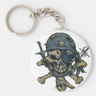 Horror Pirate Skull Key Ring