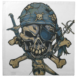 Horror Pirate Skull Napkin