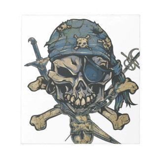 Horror Pirate Skull Notepad