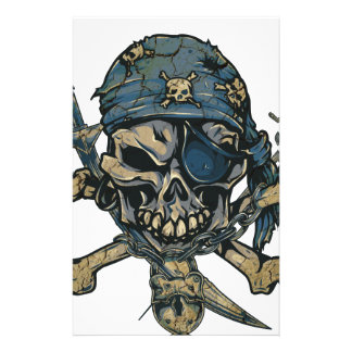 Horror Pirate Skull Stationery