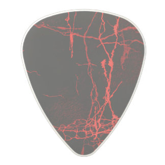 Horror Red Polycarbonate Guitar Pick
