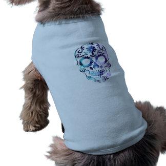Horror Skull Symbol Sleeveless Dog Shirt