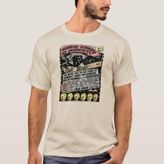 Horror Strikes At Midnight Vintage Spook Show Art T-Shirt
