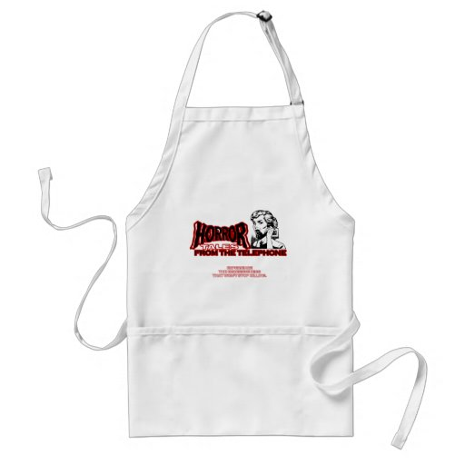 Horror Tales From The Telephone Retro Movie Ad Apron