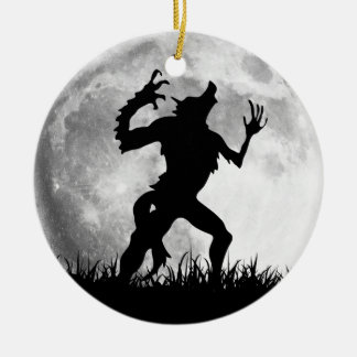 Horror Werewolf Full Moon Transformation - Cool Christmas Ornament