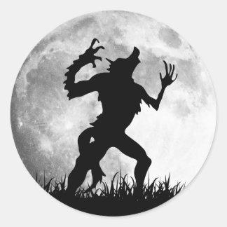 Horror Werewolf Full Moon Transformation - Cool Classic Round Sticker