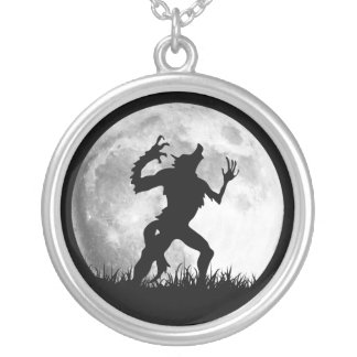 Horror Werewolf Full Moon Transformation - Cool Silver Plated Necklace
