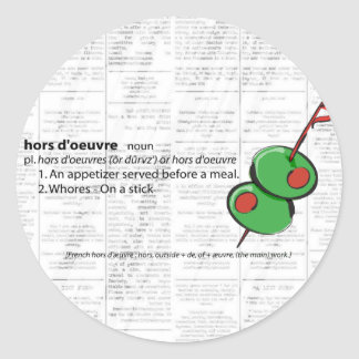 hors d oeuvres stickers