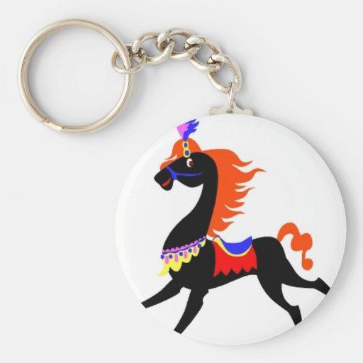 horse014yy CARTOON DECORATIVE HORSE SHOW PARADE HA Key Chains