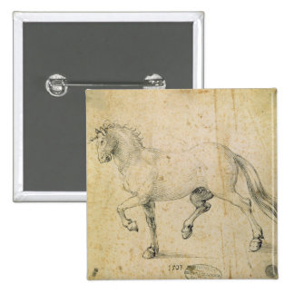 Horse, 1503 (pen and ink on paper) 15 cm square badge