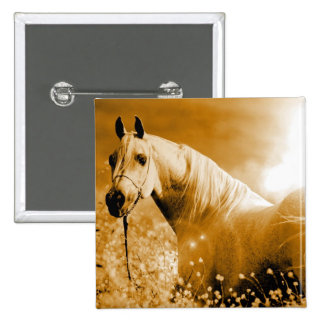 Horse 15 Cm Square Badge