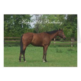 Horse 21st Birthday Greeting Cards