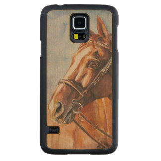 Horse 2 carved maple galaxy s5 case