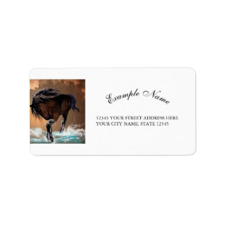 Horse Address Label