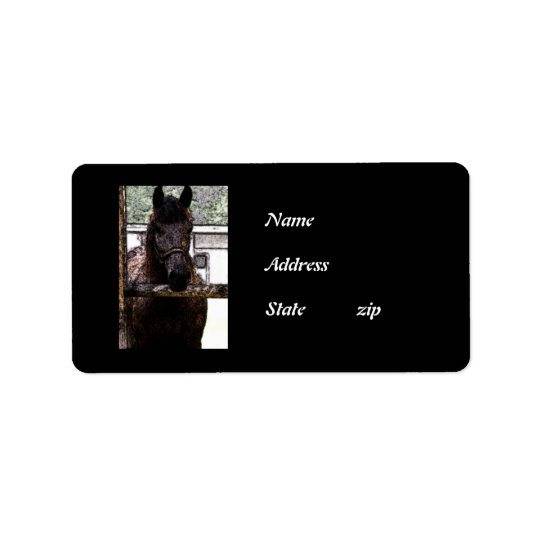 Horse Address Label
