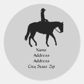 Horse Address Label Round Stickers