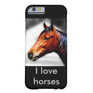 Horse and a blade of grass barely there iPhone 6 case