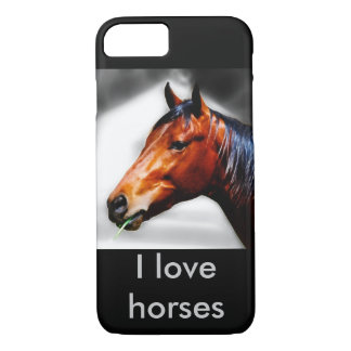 Horse and a blade of grass iPhone 7 case