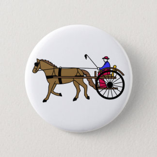Horse and Buggy 6 Cm Round Badge