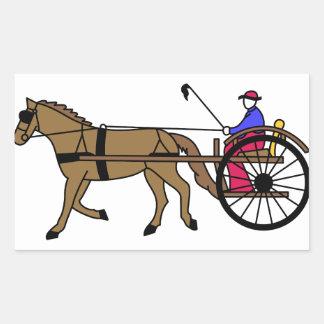 Horse and Buggy Rectangular Sticker
