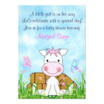 "Horse and Butterflies Baby Shower Invite for Girls 5"" X 7"" Invitation Card"