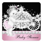 Horse and Carriage Pink Princess Baby Shower