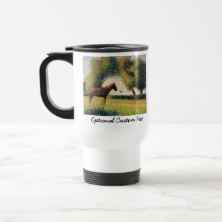 Horse and Cart by Georges Seurat Stainless Steel Travel Mug