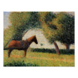 Horse and Cart by Georges Seurat Posters