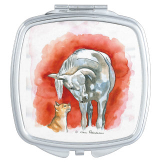 Horse and Cat Mirror For Makeup