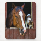 Horse and Cat Mouse Mat