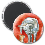 Horse and Cat Refrigerator Magnets