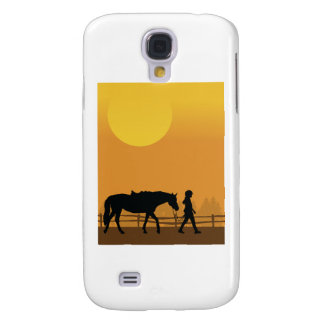 Horse and Child Samsung Galaxy S4 Cover