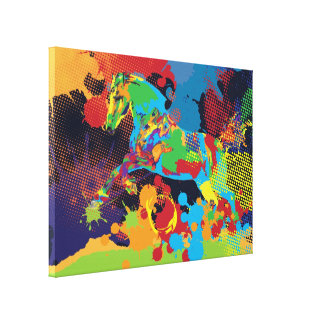 Horse and colours canvas print