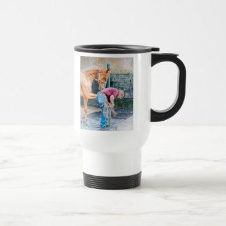 Horse and Farrier Coffee Mug