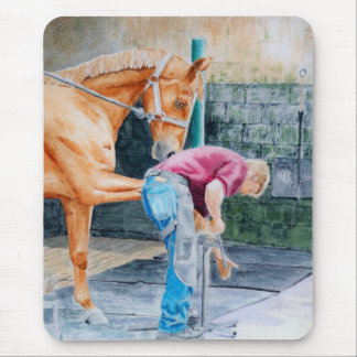 Horse and Farrier Mouse Pad