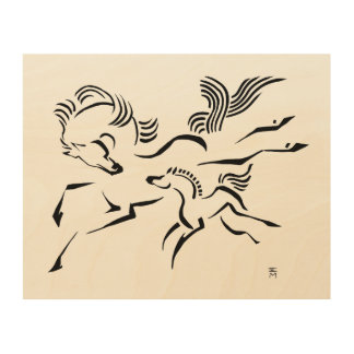 Horse and Foal Wood Wall Decor