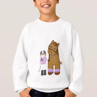Horse and girl - Girl and horse Sweatshirt