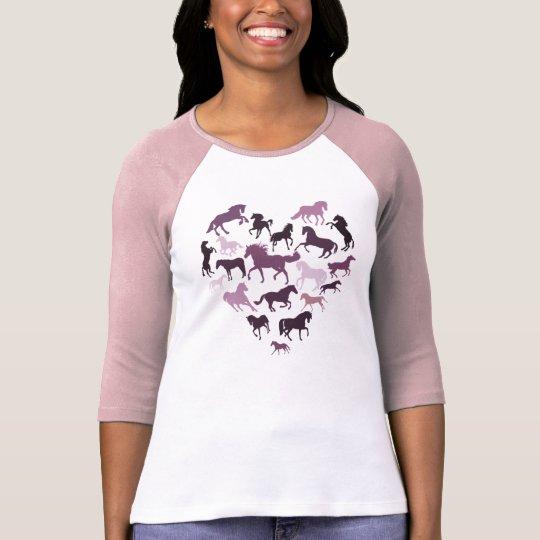 Horse and Heart Tshirt- Pink T-Shirt