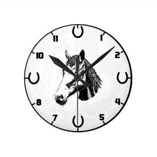 Horse And Horseshoe Wall Clock