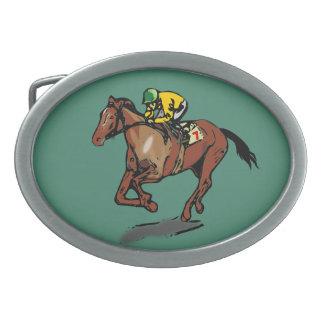 Horse and Jockey Belt Buckle